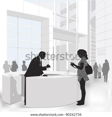 Friendly Service - stock vector