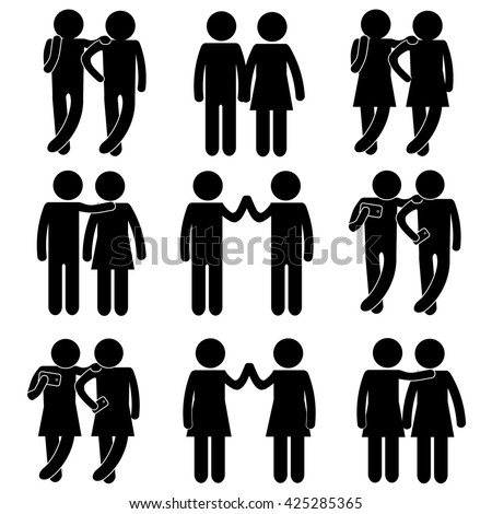 Friends Having Fun Coming Agreement Taking Stock Vector Hd Royalty