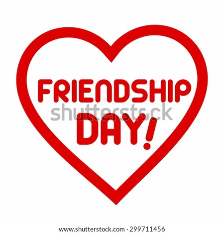 Friendshiop Day Love Heart - Elegant beautiful card design for friendship day. vector illustration - stock vector