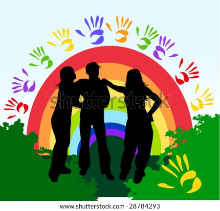 friendship - stock vector
