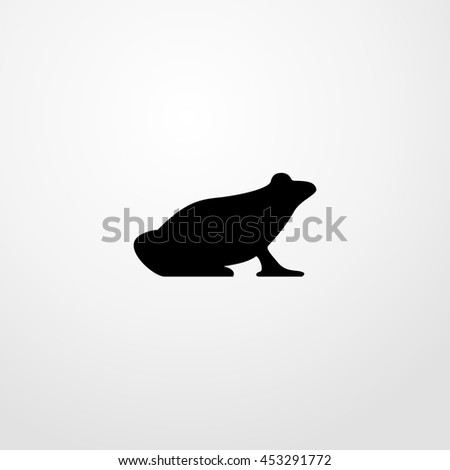 frog icon. frog sign - stock vector