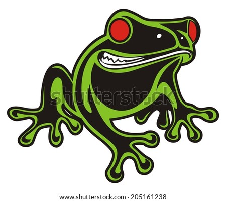 frog red eyes stock vector royalty free 205161238 shutterstock rh shutterstock com Cute Frog Silhouette Leaping Frog Clip Art
