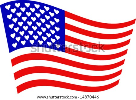 From America with love - vector-1 - stock vector
