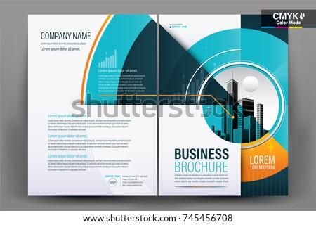 Front Back Cover Modern Business Brochure Stock Vector - Business brochure templates