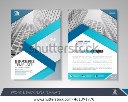 Front Back Page Brochure Template Flyer Stock Vector 461391778 ...