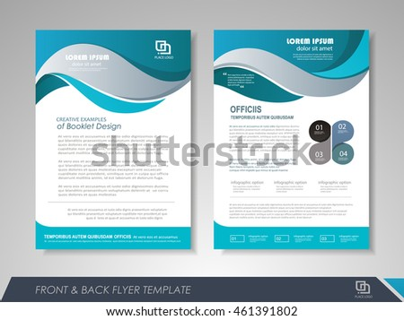 Front and back page brochure template. Flyer design, leaflet cover for business  presentations, magazine covers, posters, booklets, banners.