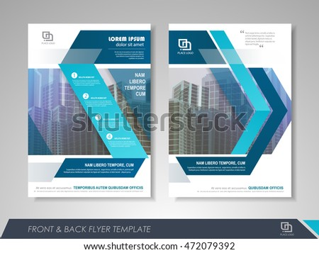 Book cover design annual report magazine stock vector for Brochure front cover design
