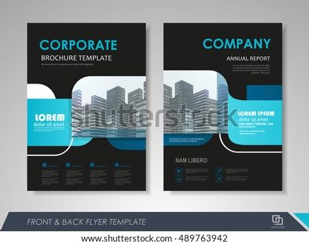 front and back page brochure template flyer design leaflet cover for business presentations