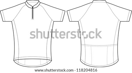 Front back vector cycling jersey template stock vector 118204816 front and back vector cycling jersey template pronofoot35fo Image collections