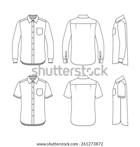 Collared Shirt Stock Images Royalty Free Images Vectors