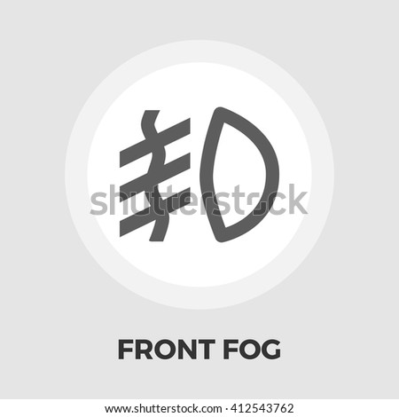Front Fog Light Icon Vector Flat Isolated On The White Background Editable EPS