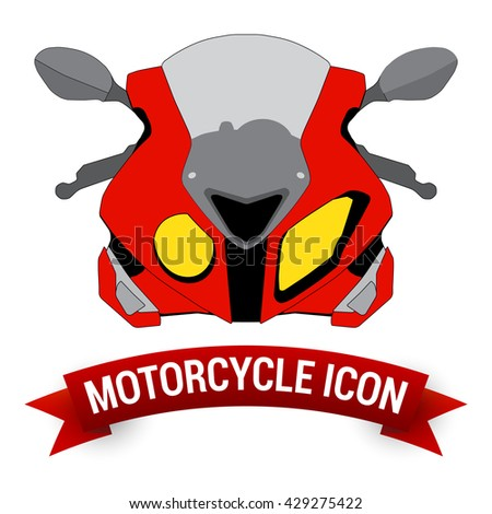 Front View Motor Bike Icon /  Motorcycle Badges / Motorcycle Design