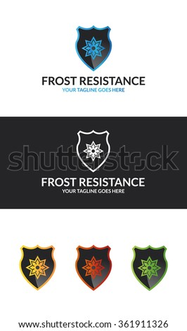 Frost Resistance If you are looking for a icons skills , Frost Resistance  Logo is an excellent logo template suitable for your company. - stock vector