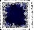 Frozen window - stock vector