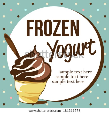 Frozen Yogurt - stock vector
