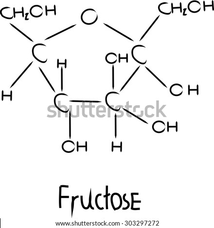 fructose chemical structure