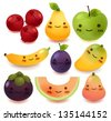 Fruit and vegetable Collection - stock vector