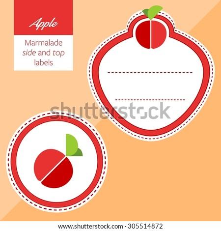 Fruit, apple label graphic - stock vector