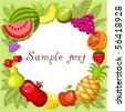 fruit card - stock vector