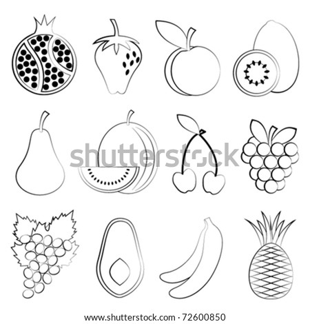 Fruit Pictures Drawing Fruit Drawing