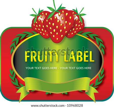 Fruit Label (Vector fully resizable and editable) - stock vector