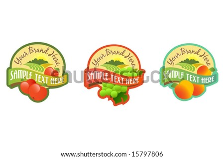 Fruit labels - stock vector
