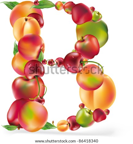 Fruit letter for your design. See others in my gallery - stock vector