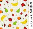 Fruit Pattern Background. Vector Illustration. - stock vector