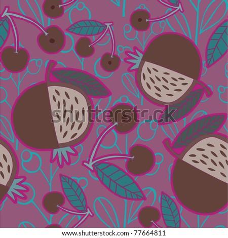 fruit pattern design - stock vector