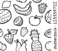 Fruit pattern seamless background - stock vector