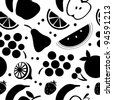 Fruit seamless pattern - stock vector