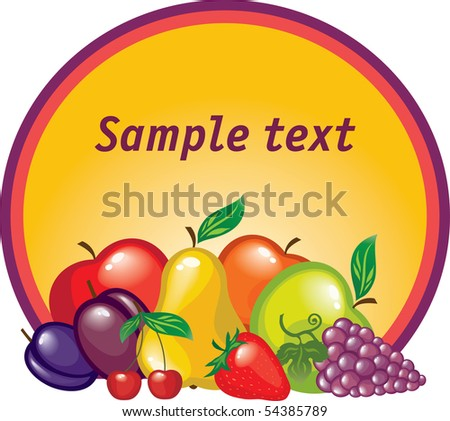 fruit tag - stock vector