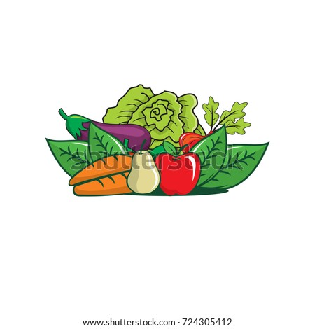 vegetables logo stock images royaltyfree images