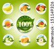 fruits and vegetables. Natural food - stock