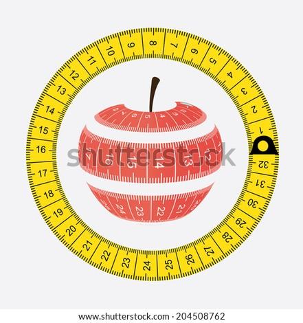 fruits design over white  background vector illustration - stock vector