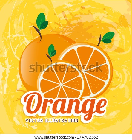 fruits design  over yellow  background vector illustration - stock vector
