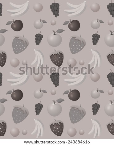 Fruits pattern - seamless vector background ideal for wrappings  - stock vector