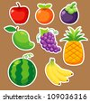 Fruits set vector - stock vector