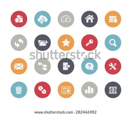 FTP and Hosting Icons // Classics Series - stock vector