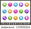 FTP & Hosting Icons // Rainbow Series - stock vector