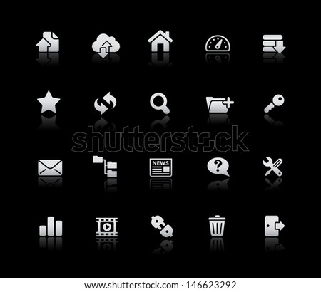 FTP & Hosting Icons // Silver Series - stock vector