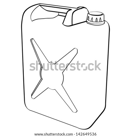 fuel can vector  - stock vector