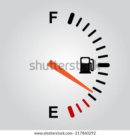 Fuel gauge on gray background. eps10 - stock vector