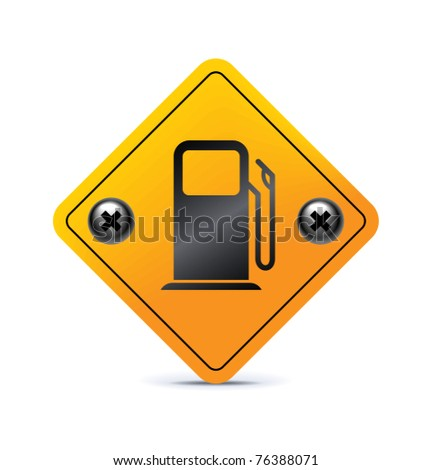 Fuel icon on white background - stock vector
