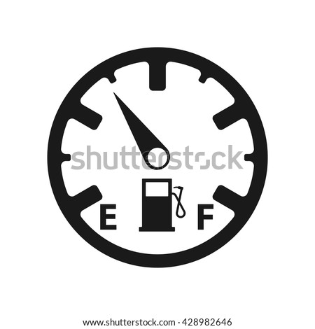 Fuel icon Vector Illustration on the white background. - stock vector