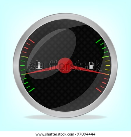 Fuel indicator, 10eps. - stock vector