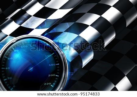 Fuel indicator, vector - stock vector