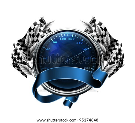 Fuel indicator, vector - stock vector