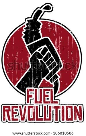 fuel pump - stock vector