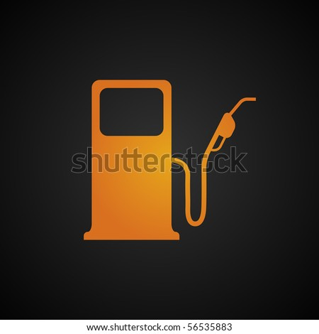 Fuel pump icon. Empty fuel tank warning light. - stock vector